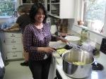 Christina Reimer fried potatoes all night!