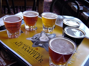 Beer sampler/Flickr Creative Commons/By Anne Oeldorf