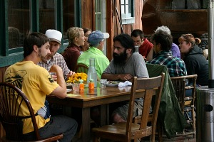 Members of OSU's Organic Growers Club attended the seed day and lunch. (Photo by Cheryl Brock/Slow Food Portland)